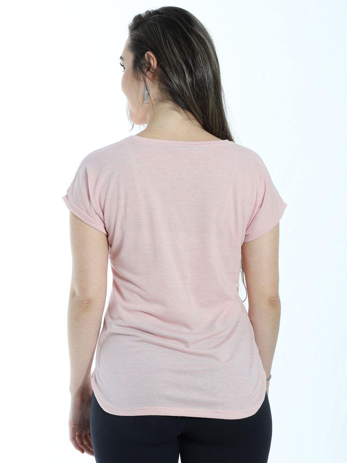 Blusa Anistia Recortes Ombro Rosa