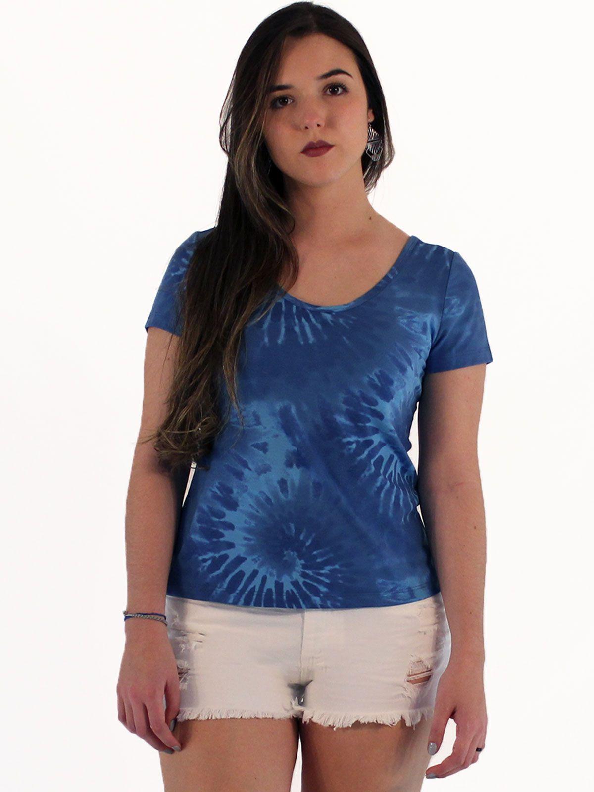 Blusa Anistia Tie Dye Azul