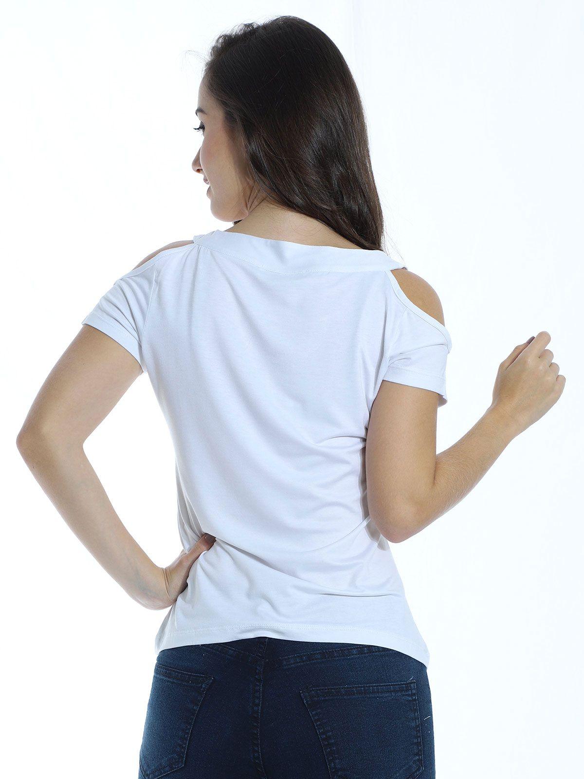 Blusa Anistia Viscolycra Decote Diferenciado Branco