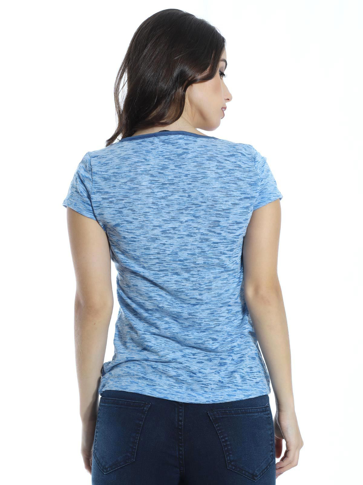 Blusa Longuete Devorê Anistia Azul