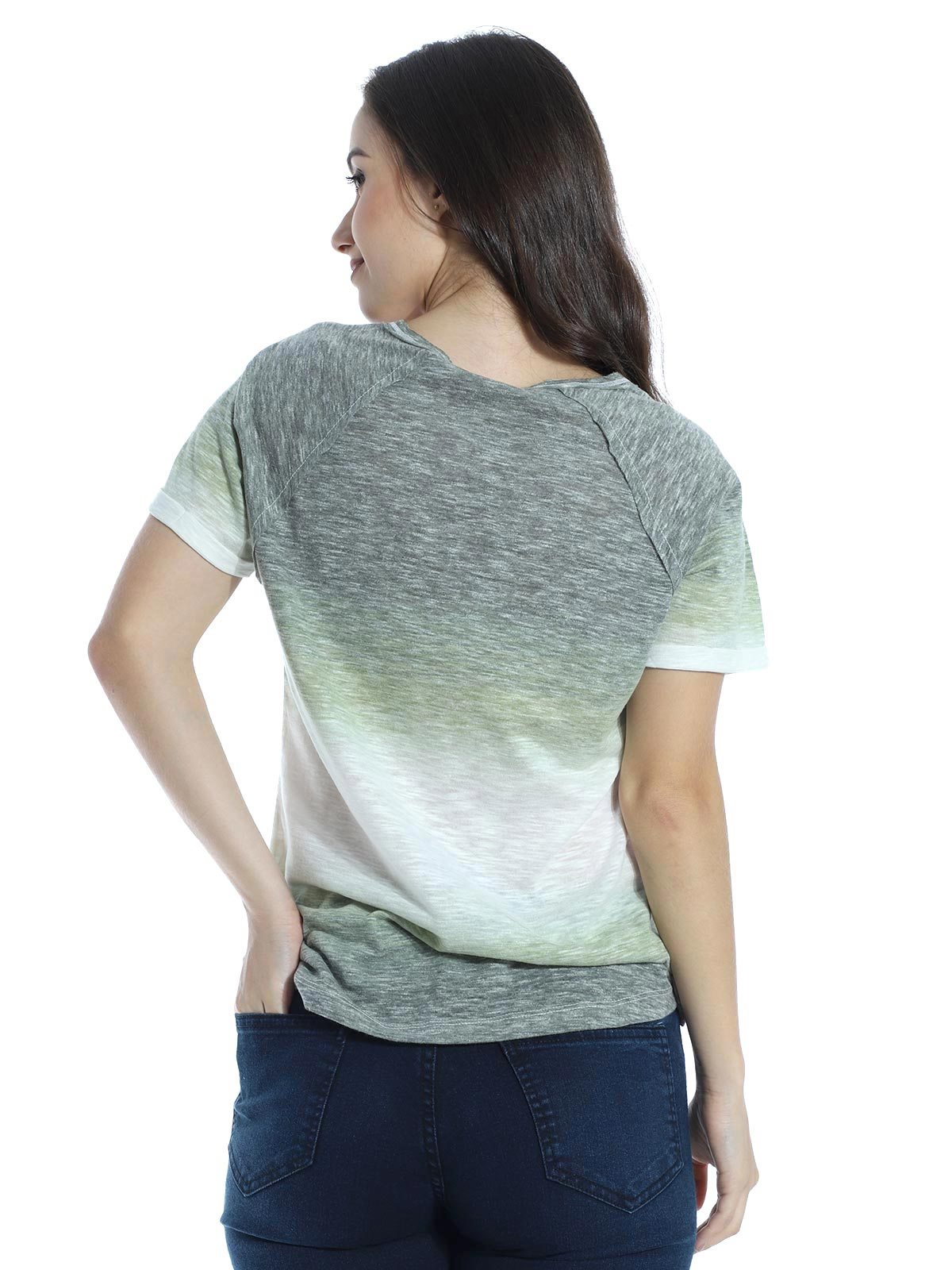 Blusa Longuete Devorê Decote V. Anistia Verde