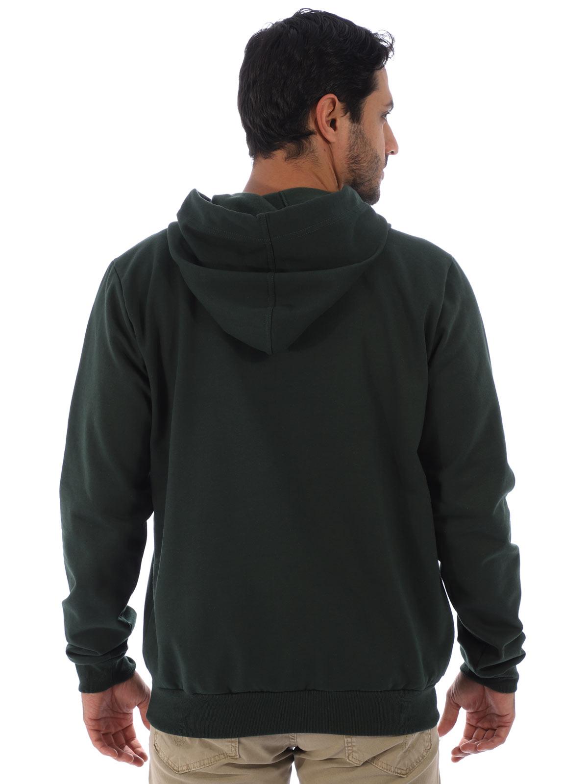 Blusa Masculina de Moletom Felpado Bordado Verde Musgo