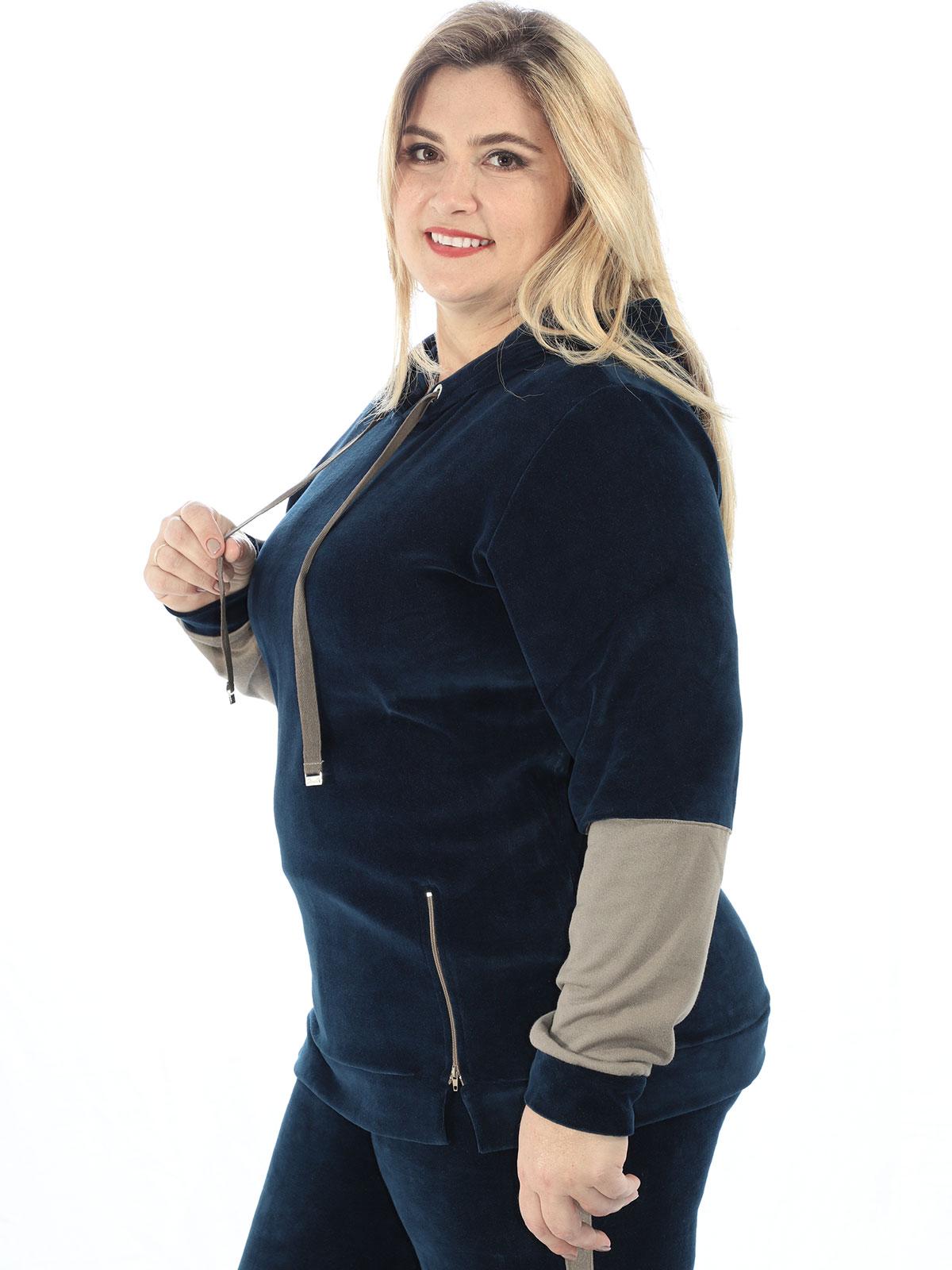 Blusa Plus Size Feminina Com Capuz De Plush Anistia Marinho