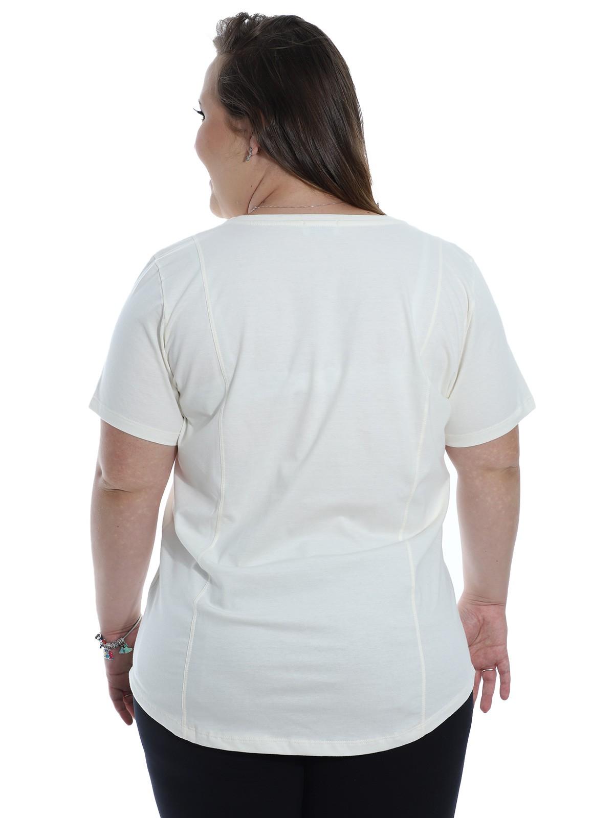 Blusa Plus Size KTS com Estampa Areia