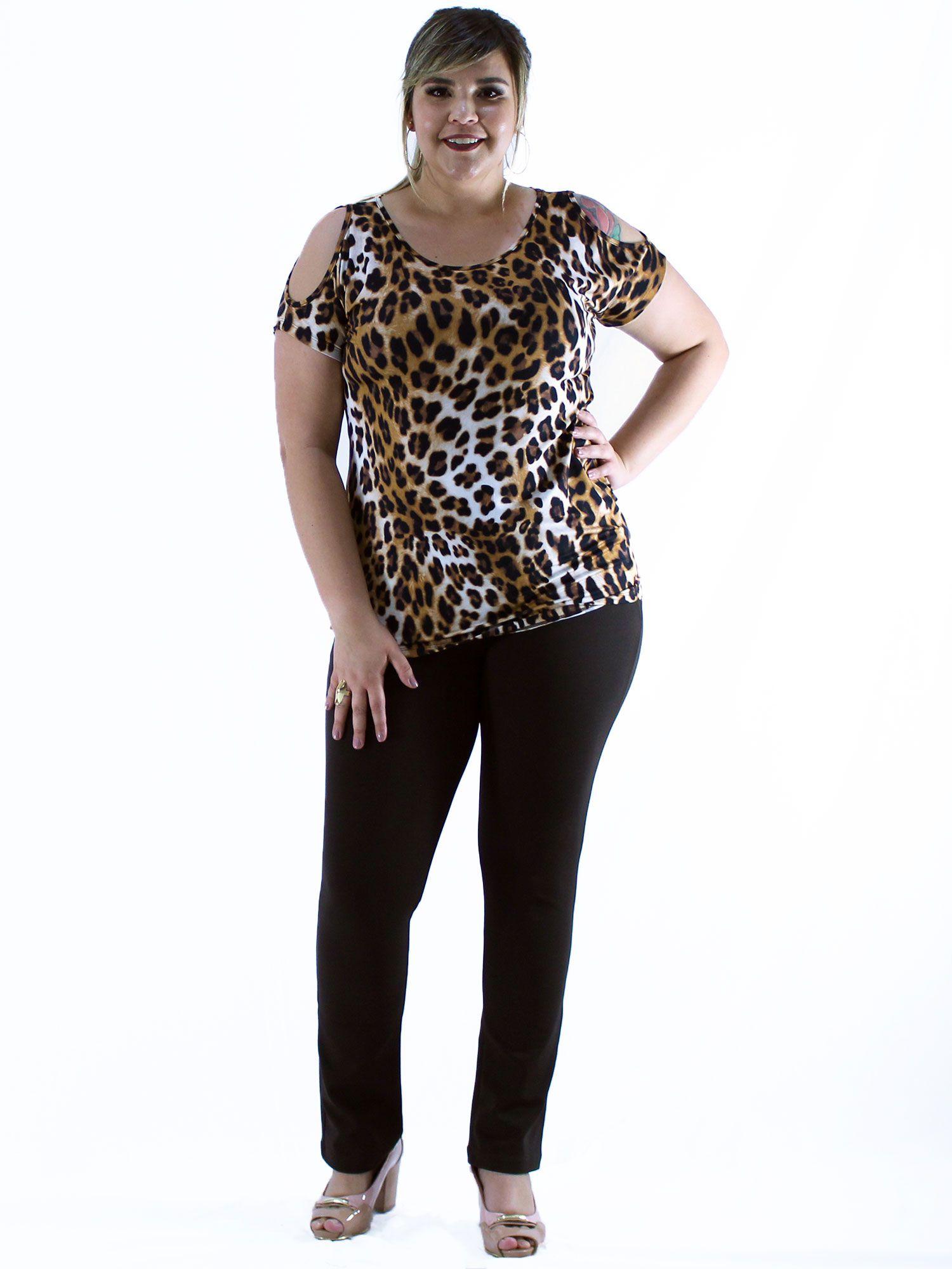 Blusa Plus Size KTS Ombro Diferenciado Amarelo