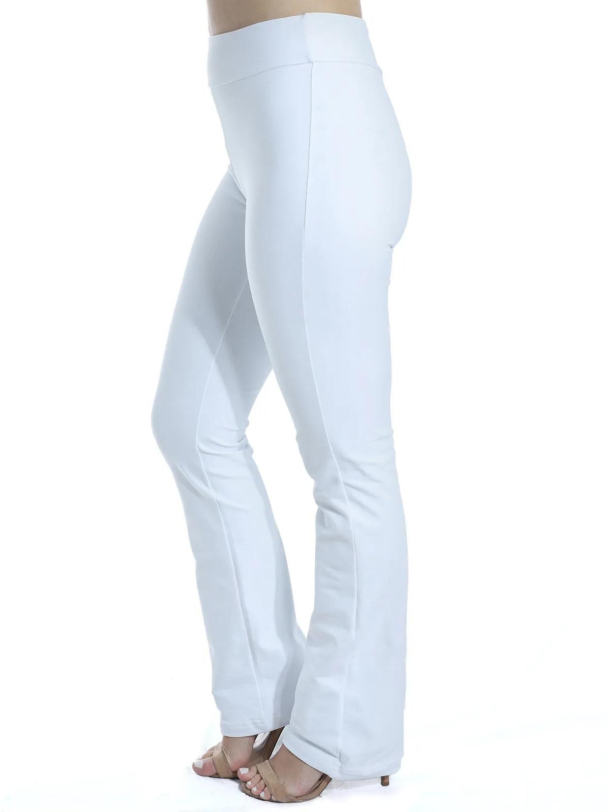 Calça Bailarina Legging Feminina Fitness Confort Branca