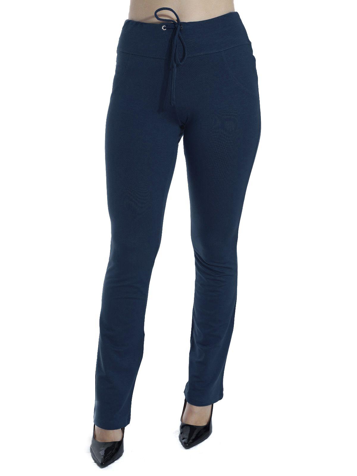 Calça de Moletinho Feminina Azul Marinho