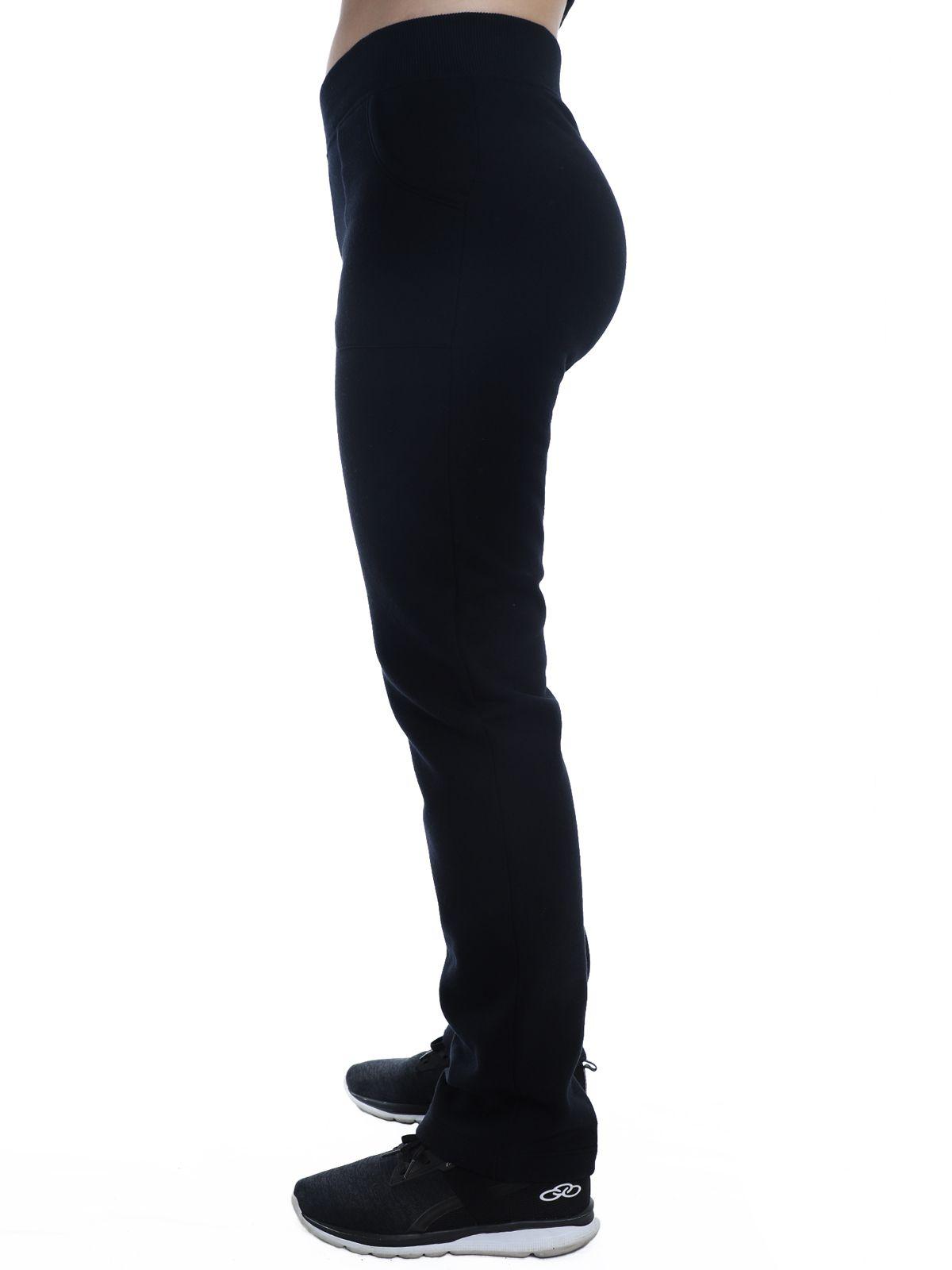 Calça Feminina Anistia de Moletom Cós de Punho Preta