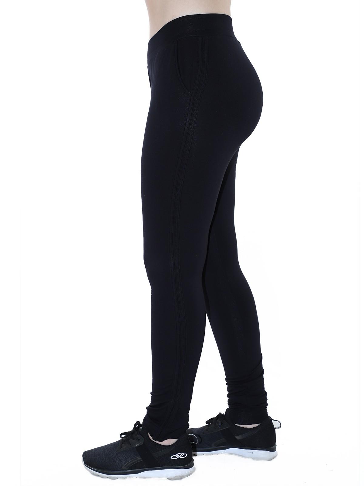 Calça Feminina Jogger de Moletinho C/ Punho Preta