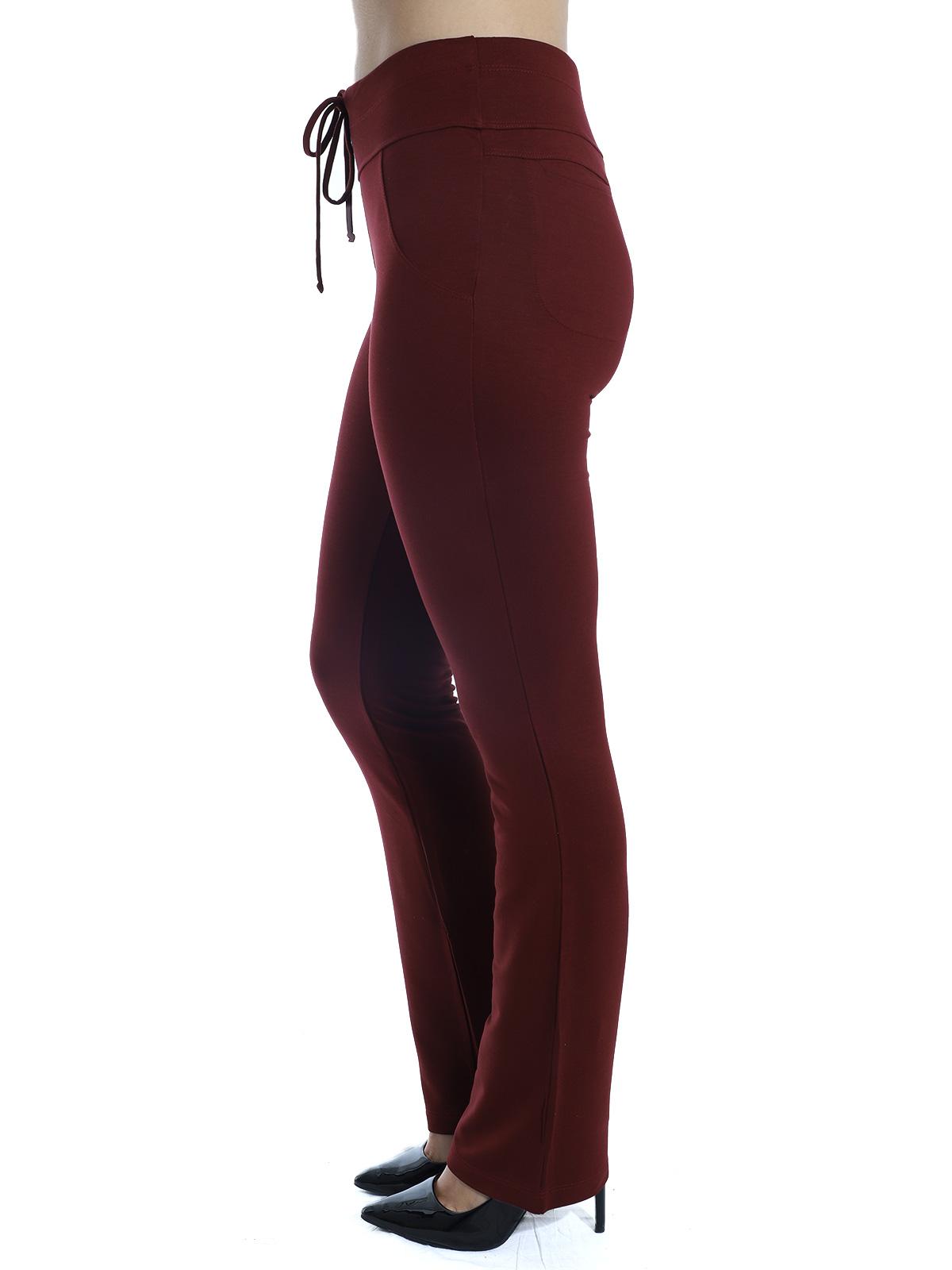 Calça Feminina Reta Moletinho Com Elastano Confort Vinho
