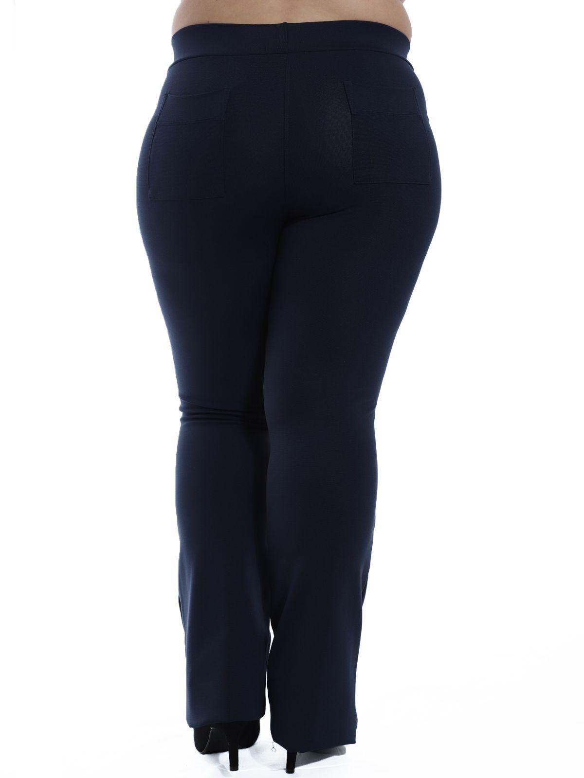Calça Flare Plus Size Body Fit Azul Marinho