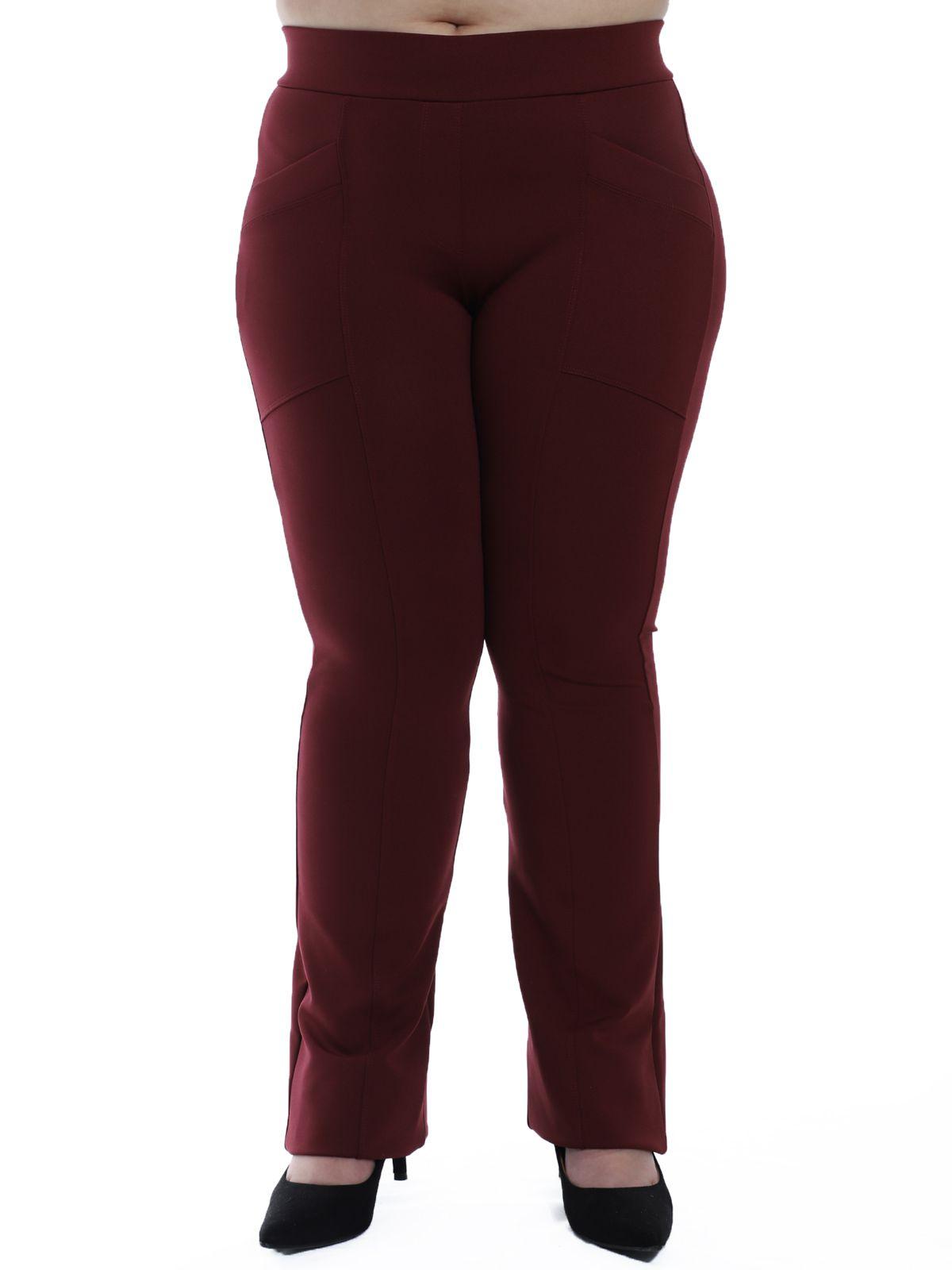 Calça Flare Plus Size Body Fit Bordo