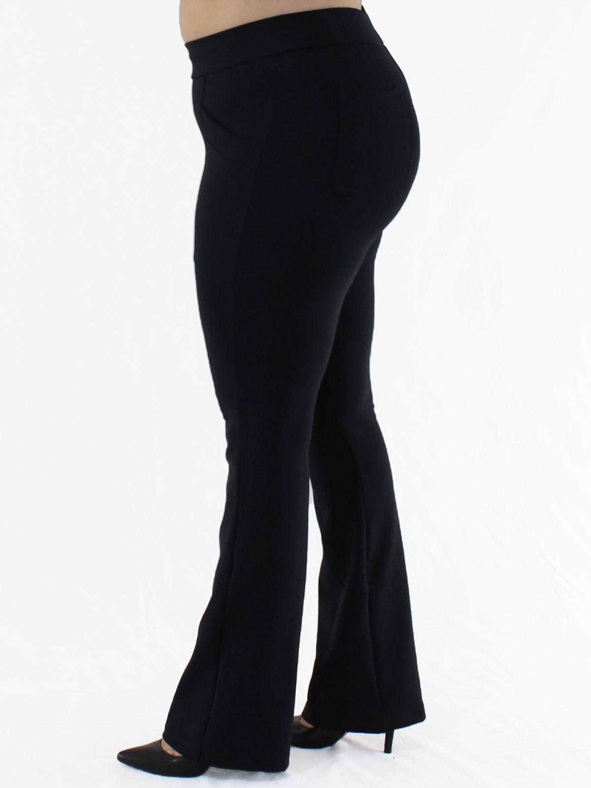 Calça Flare Plus Size Body Fit Preta