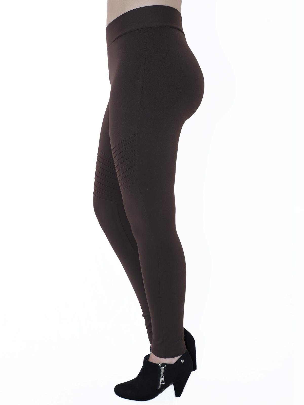 Calça Fusô Fitness Com Nervura Grossa Confortável Marrom