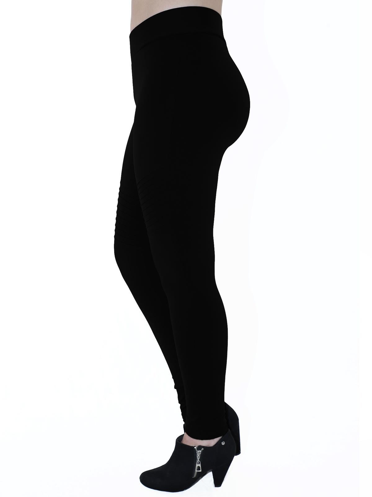 Calça Fusô Fitness Com Nervura Grossa Confortável Preta