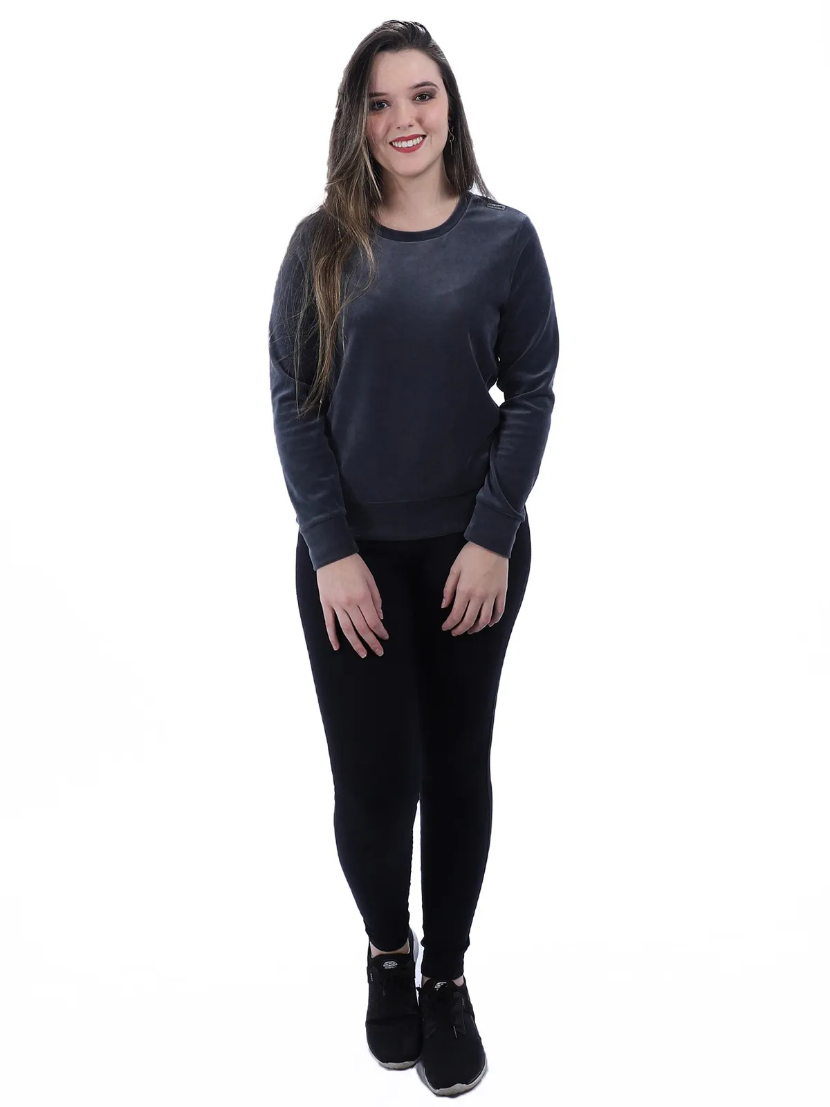 Calça Fusô Legging Fitness Feminina Academia Preta