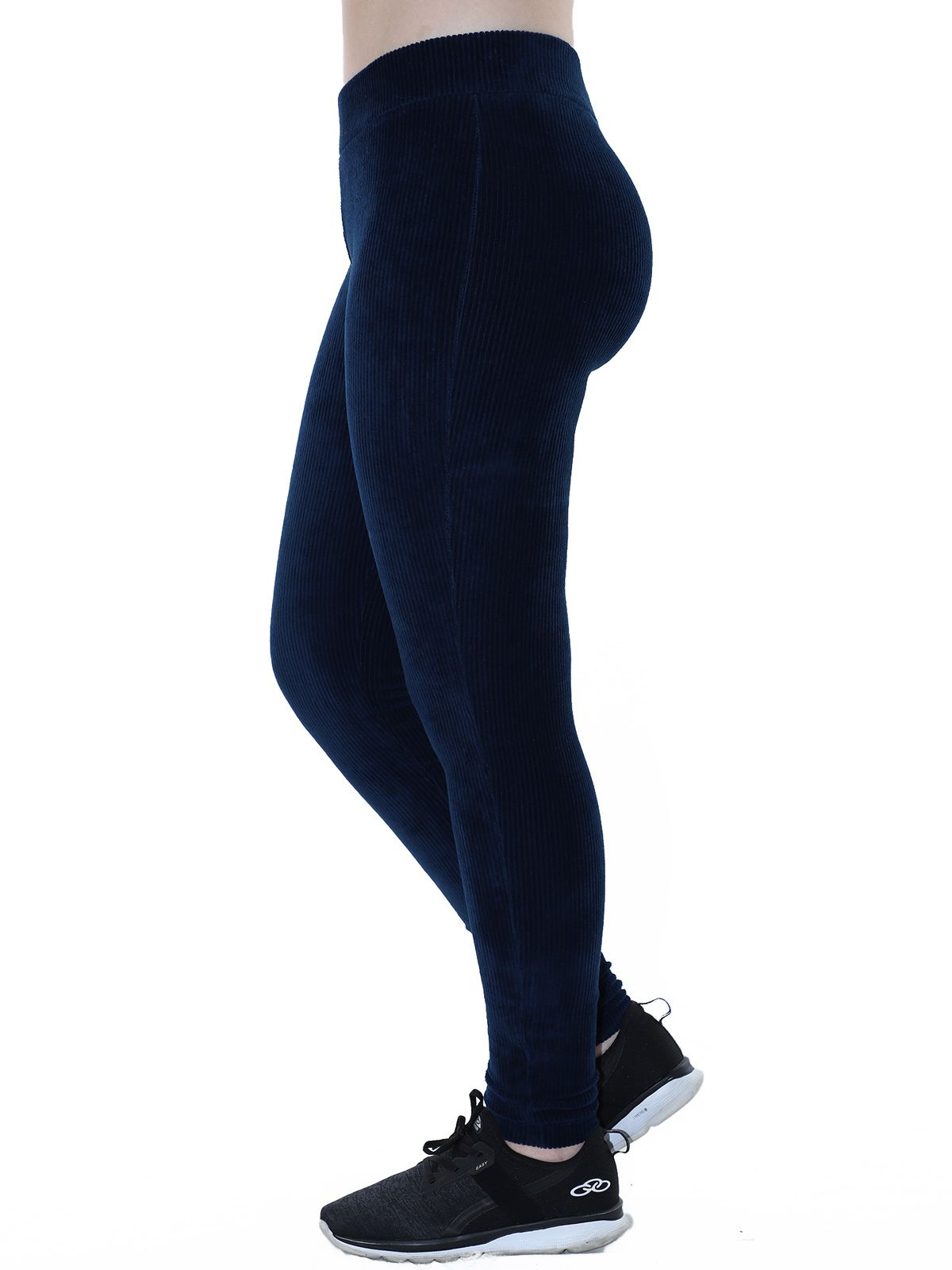 Calça Legging Feminina Veludo Cotele Marinho