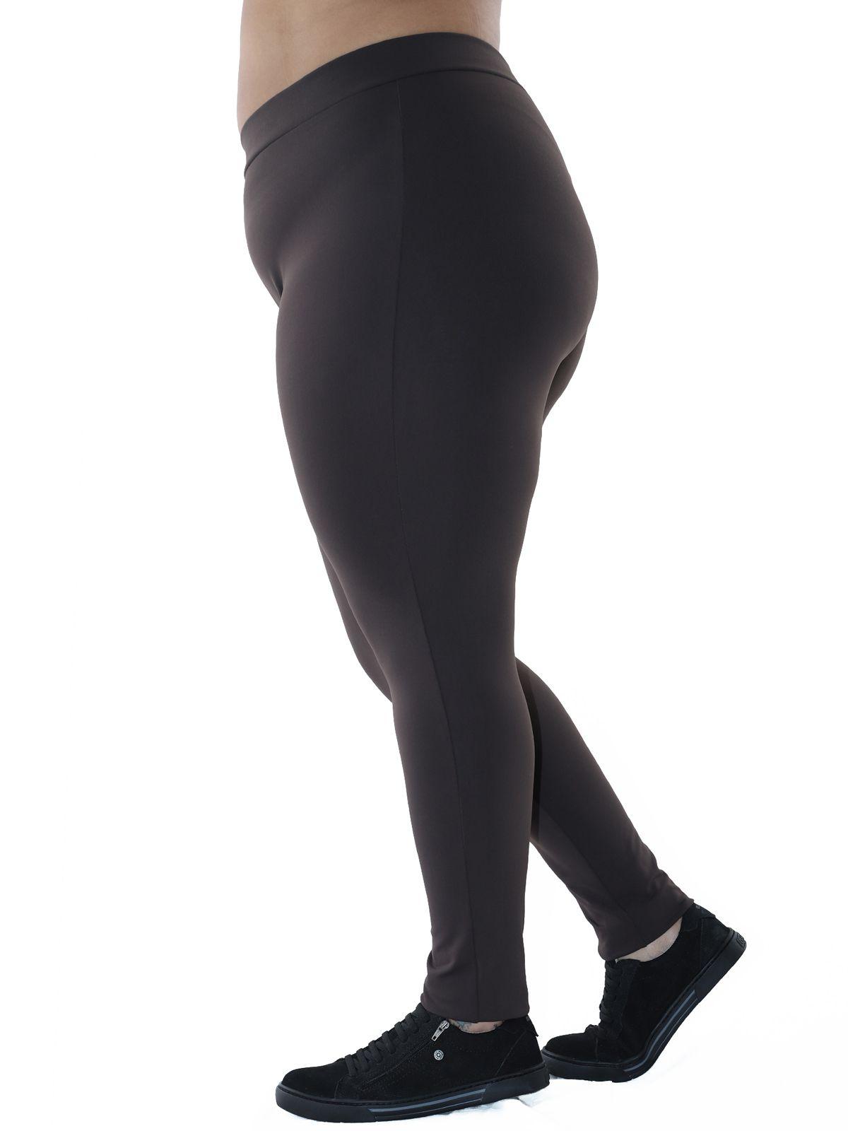 Calça Legging Plus Size Fitness KTS Marrom