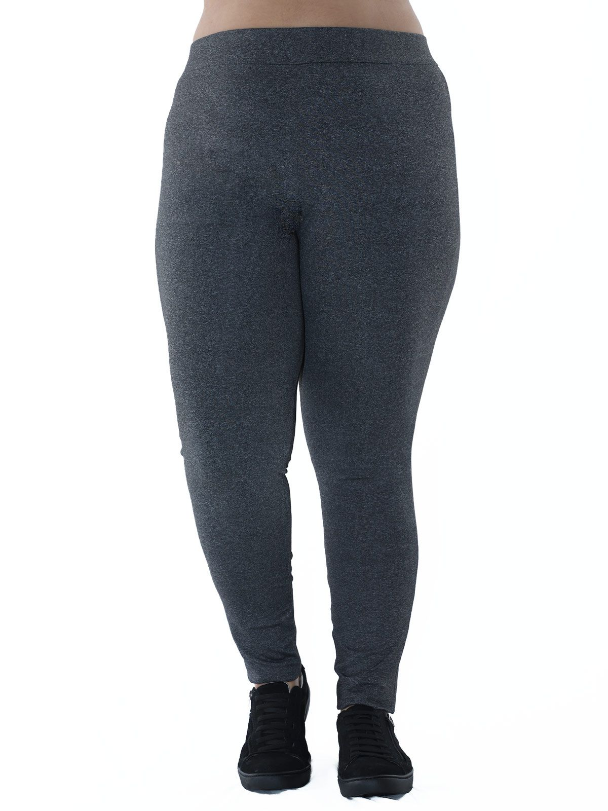 Calça Legging Plus Size Fitness KTS Mescla Preto