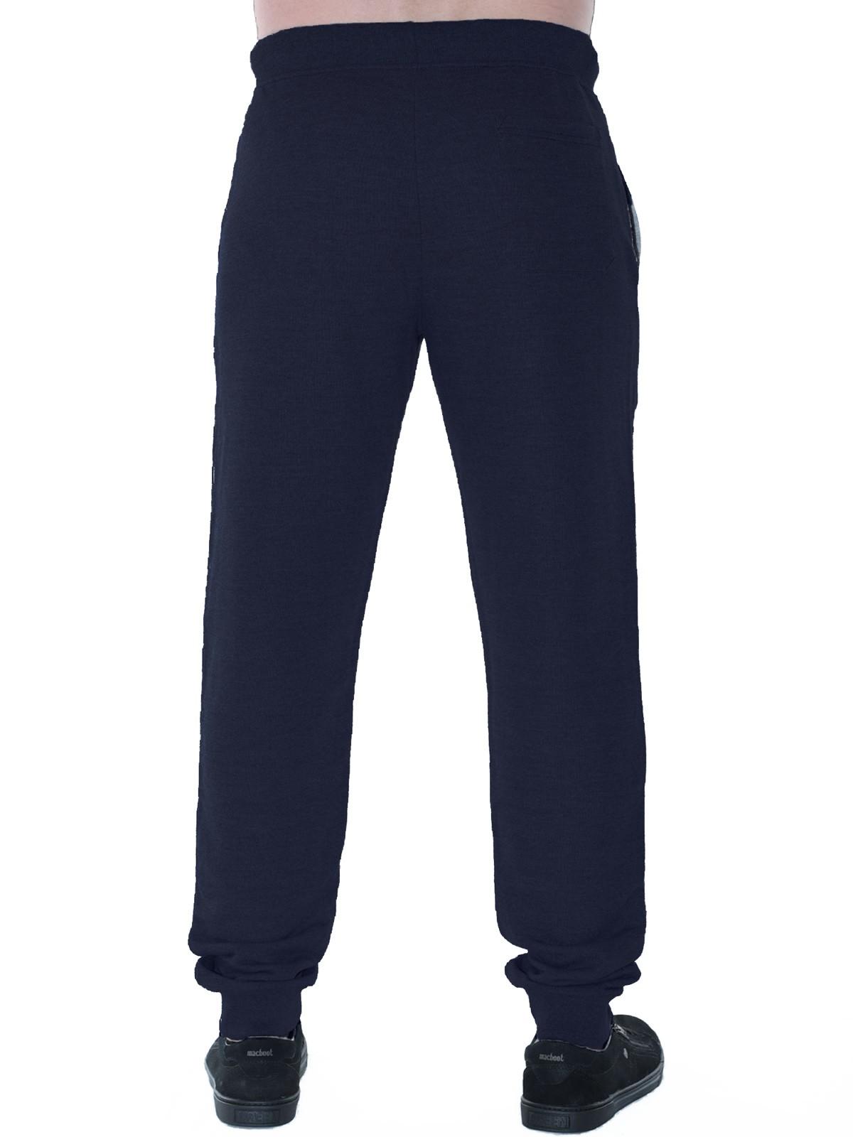 Calça Masculina de Moletom Com Punho Anistia Azul Marinho