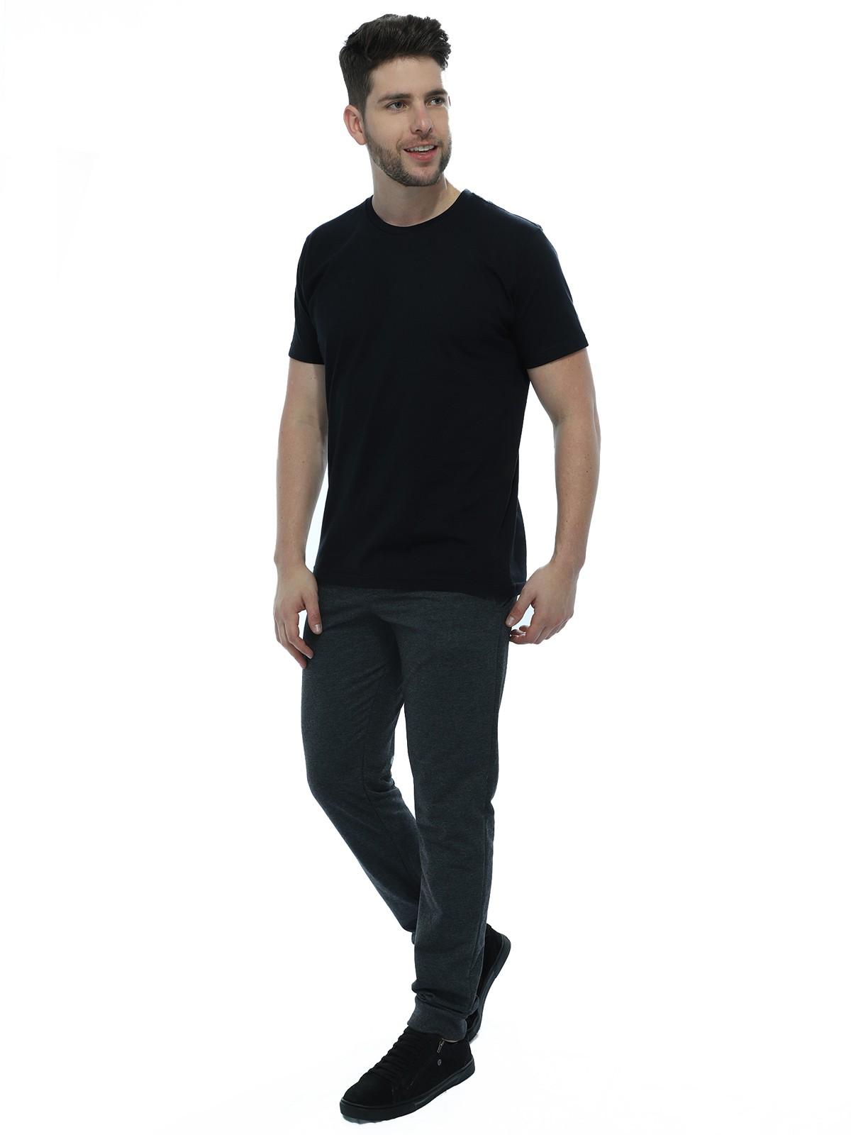 Calça Masculina de Moletom Com Punho Anistia Mescla Escuro