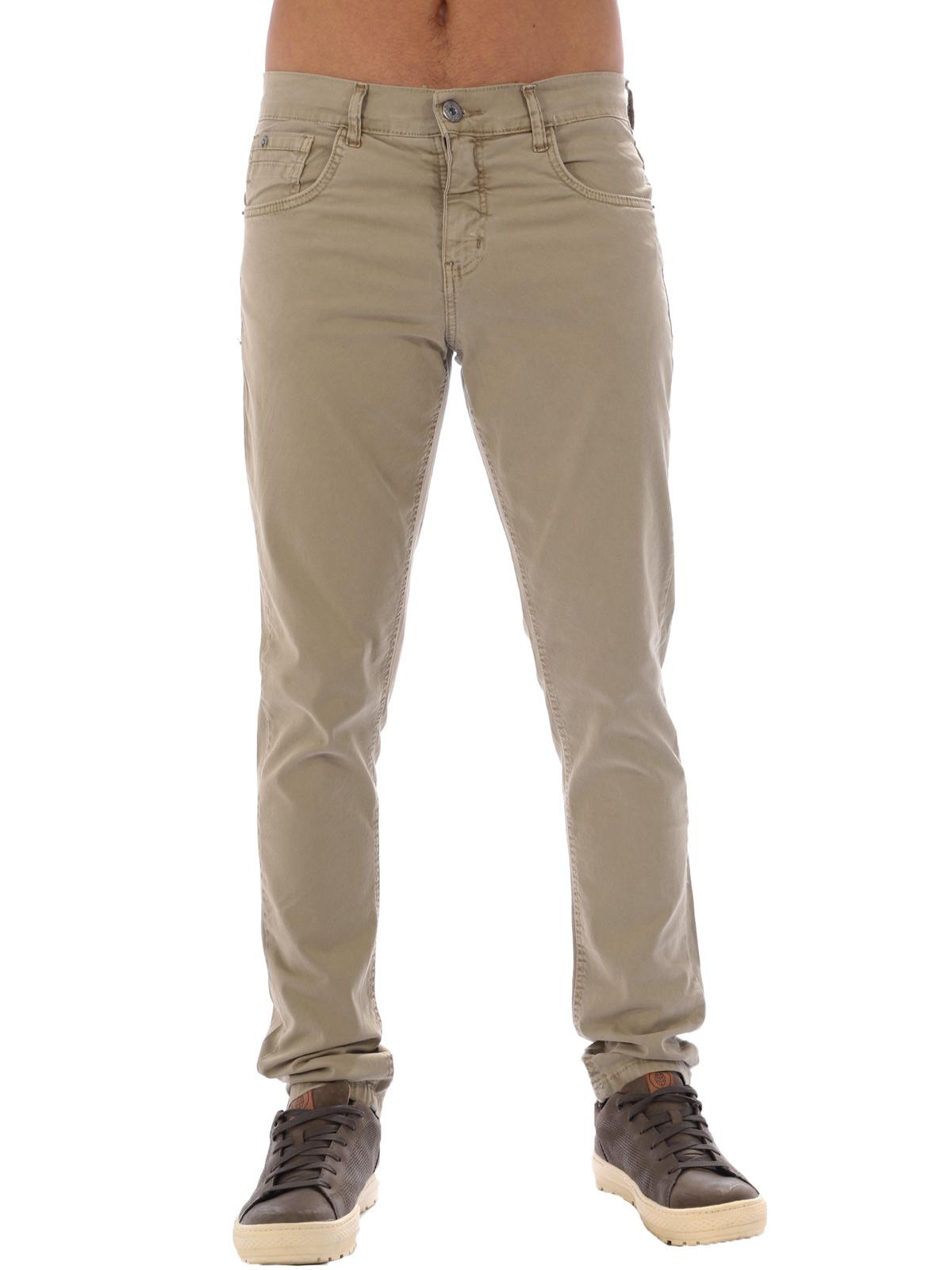 Calça Masculina de Sarja com Elastano Anistia Areia