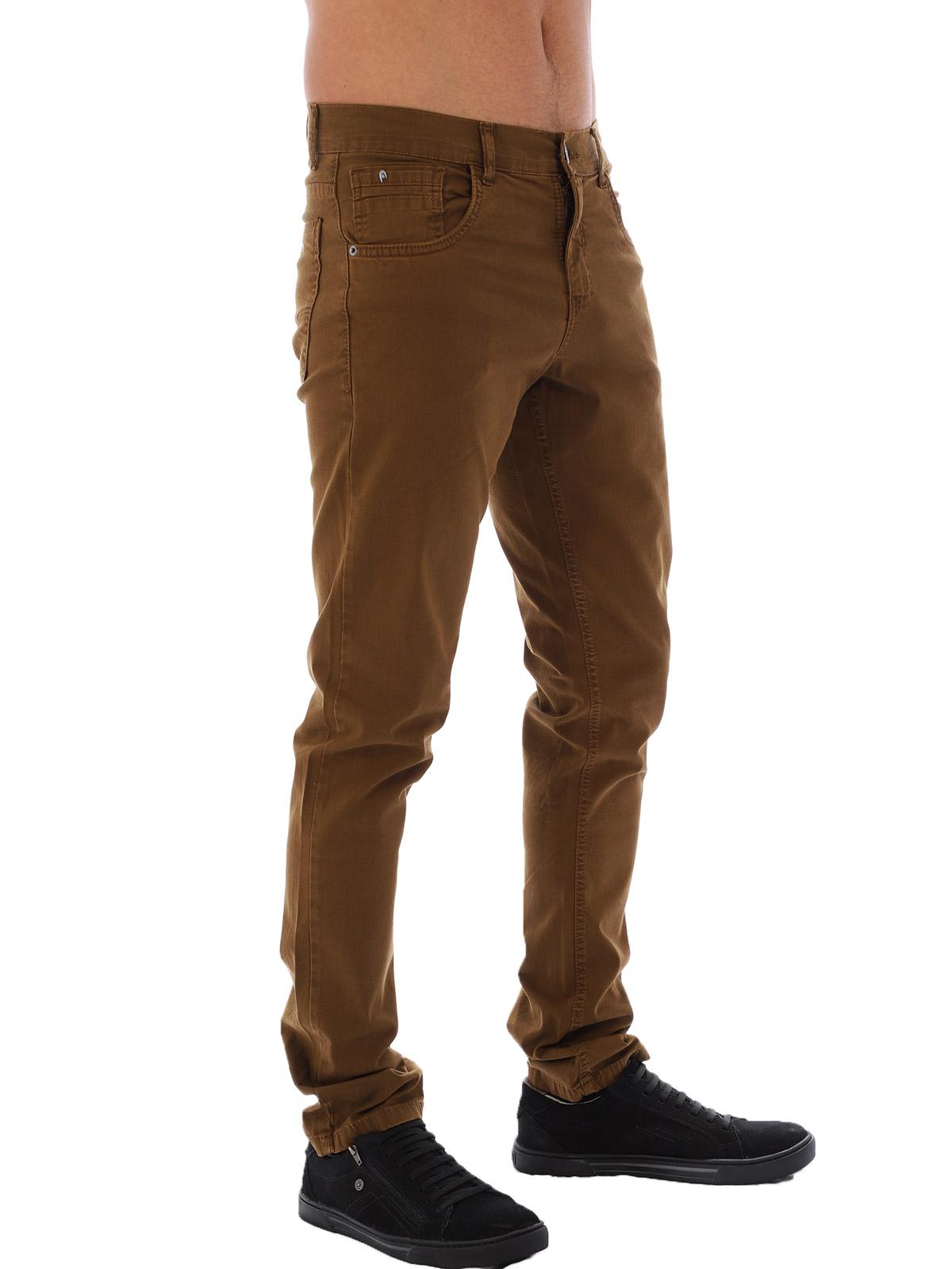 Calça Masculina de Sarja com Elastano Anistia Caramelo