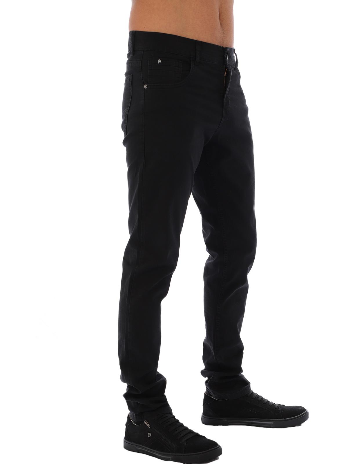 Calça Masculina de Sarja com Elastano Anistia Preta