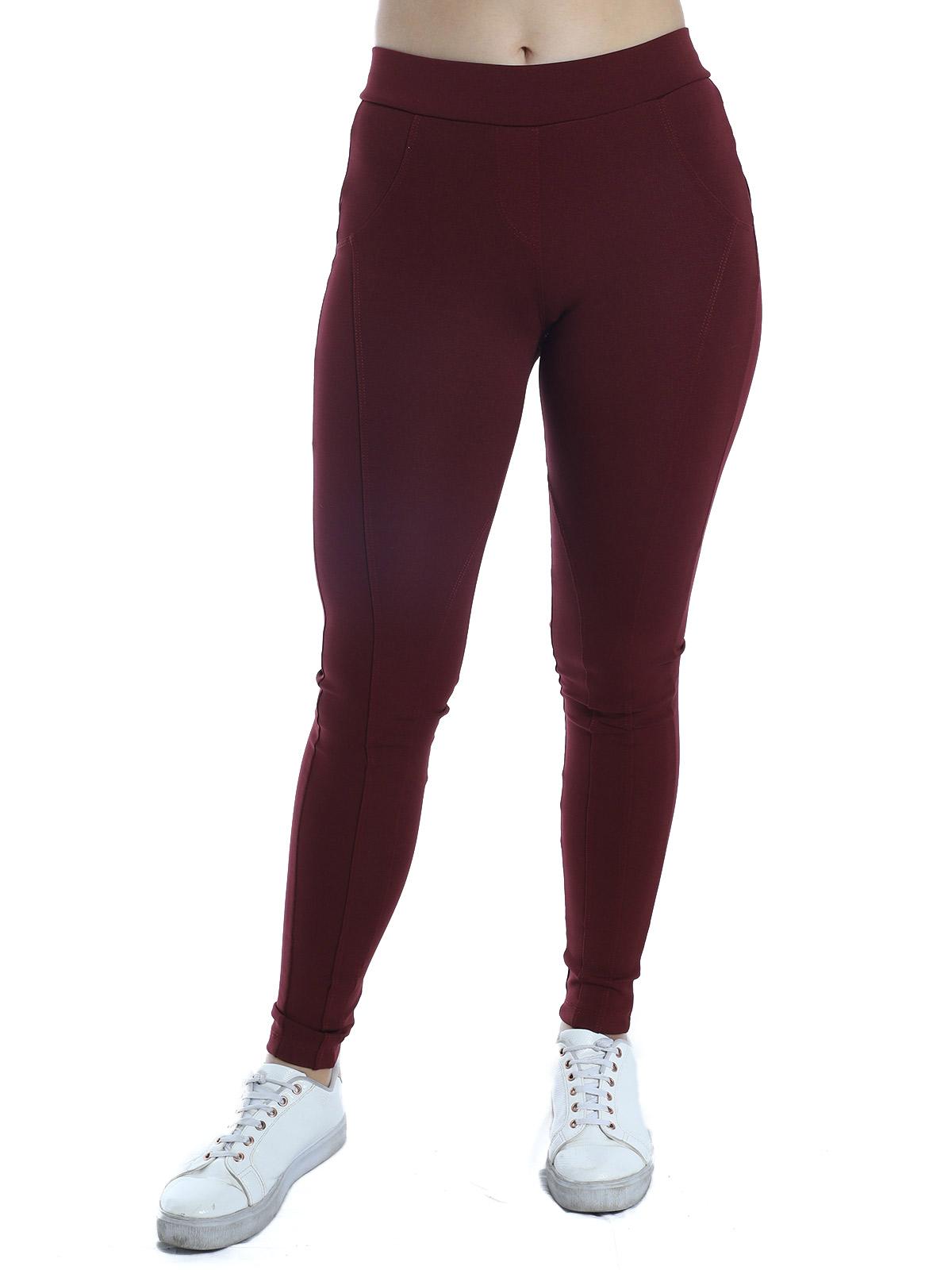 Calça Montaria Legging Feminina Fitness Body Fit Vinho