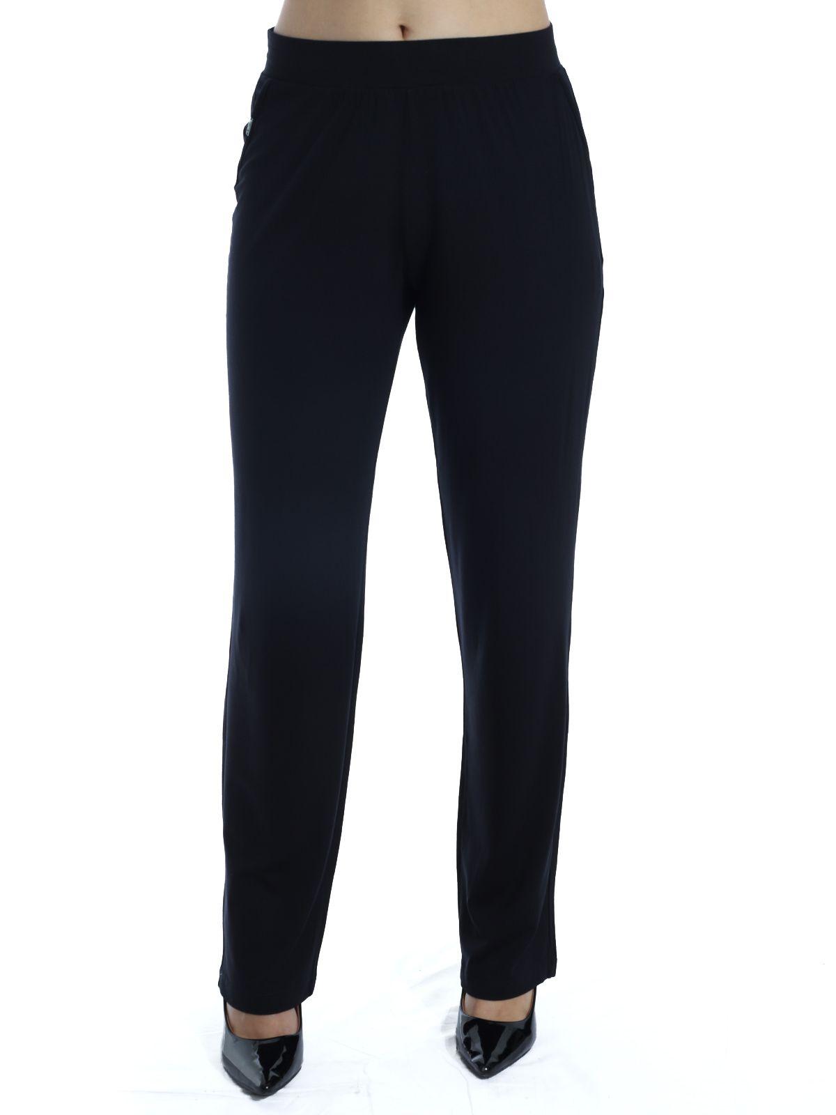 Calça Pantalona Viscolycra Anistia Lisa Preta