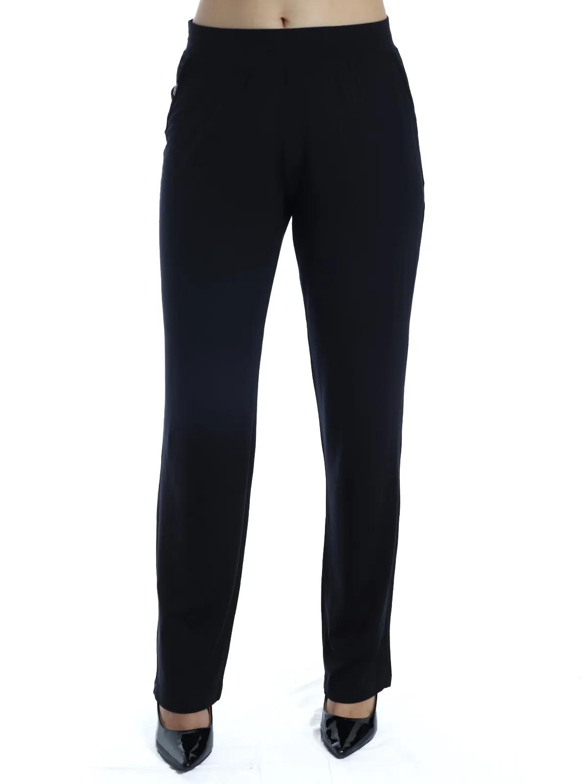 Calça Pantalona Viscolycra Lisa Confortável Preta