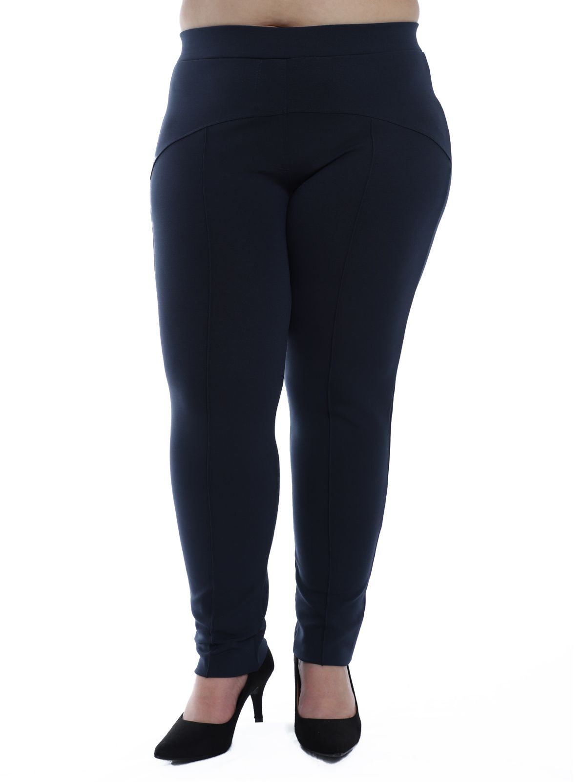Calça Plus Size Body Fit com Recortes KTS Marinho