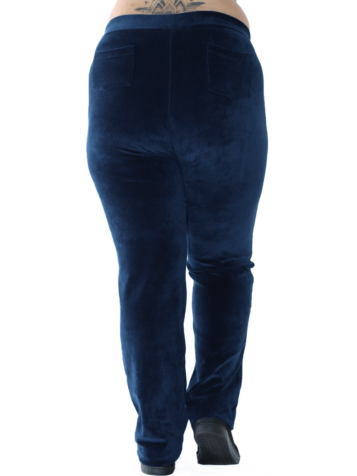 Calça Plus Size de Plush Básica Azul Marinho