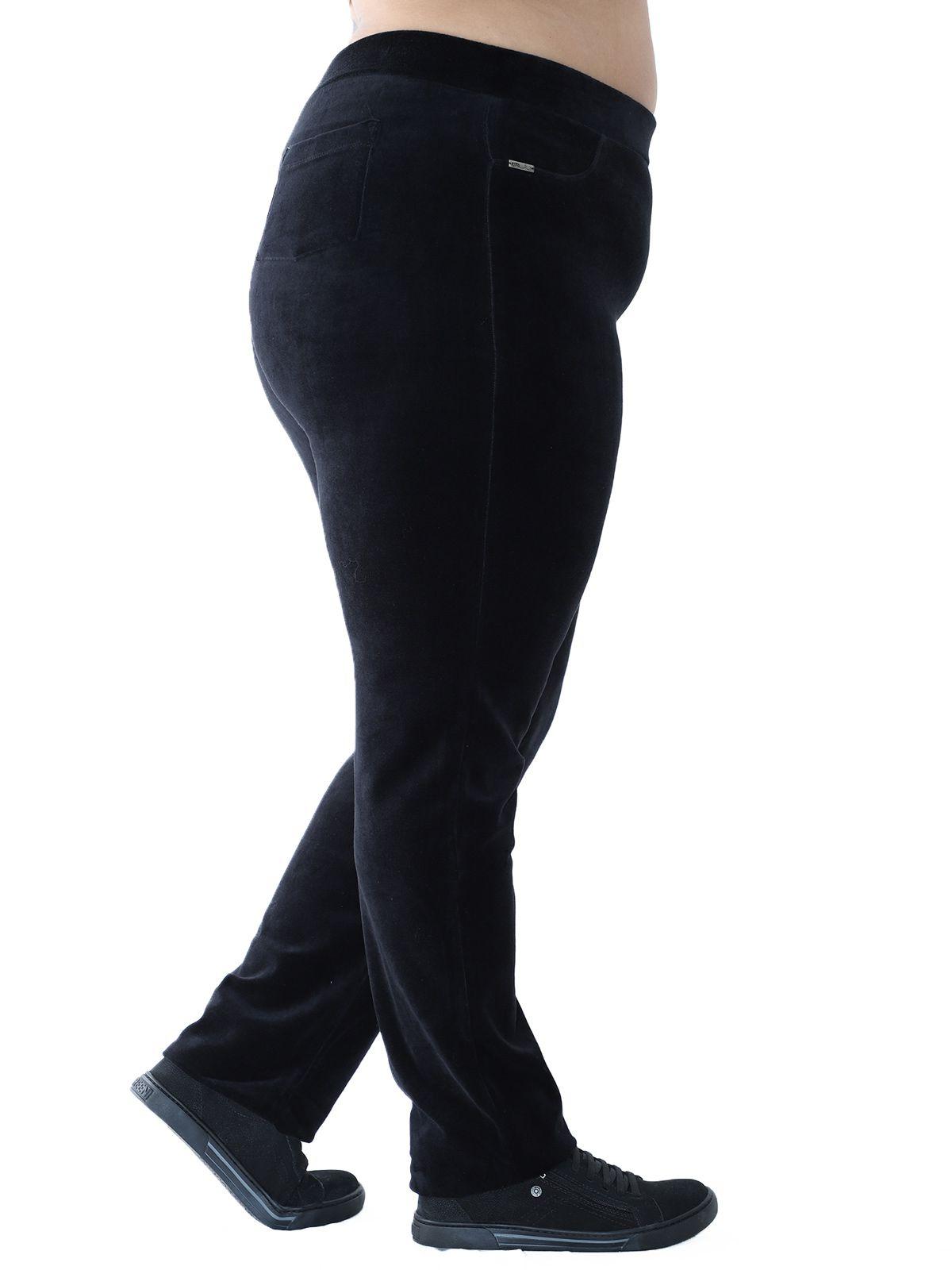 Calça Plus Size de Plush Básica Preta
