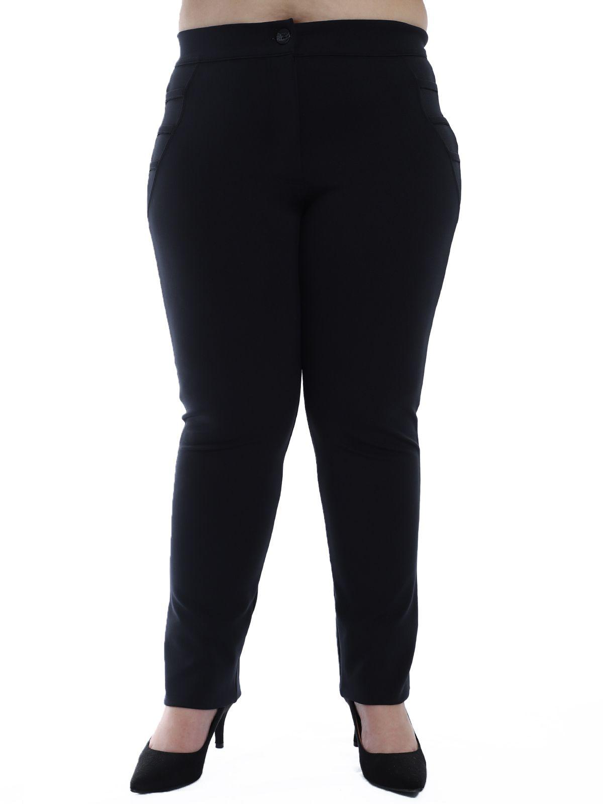 Calça Plus Size Detalhe Lateral Body Fit Preta