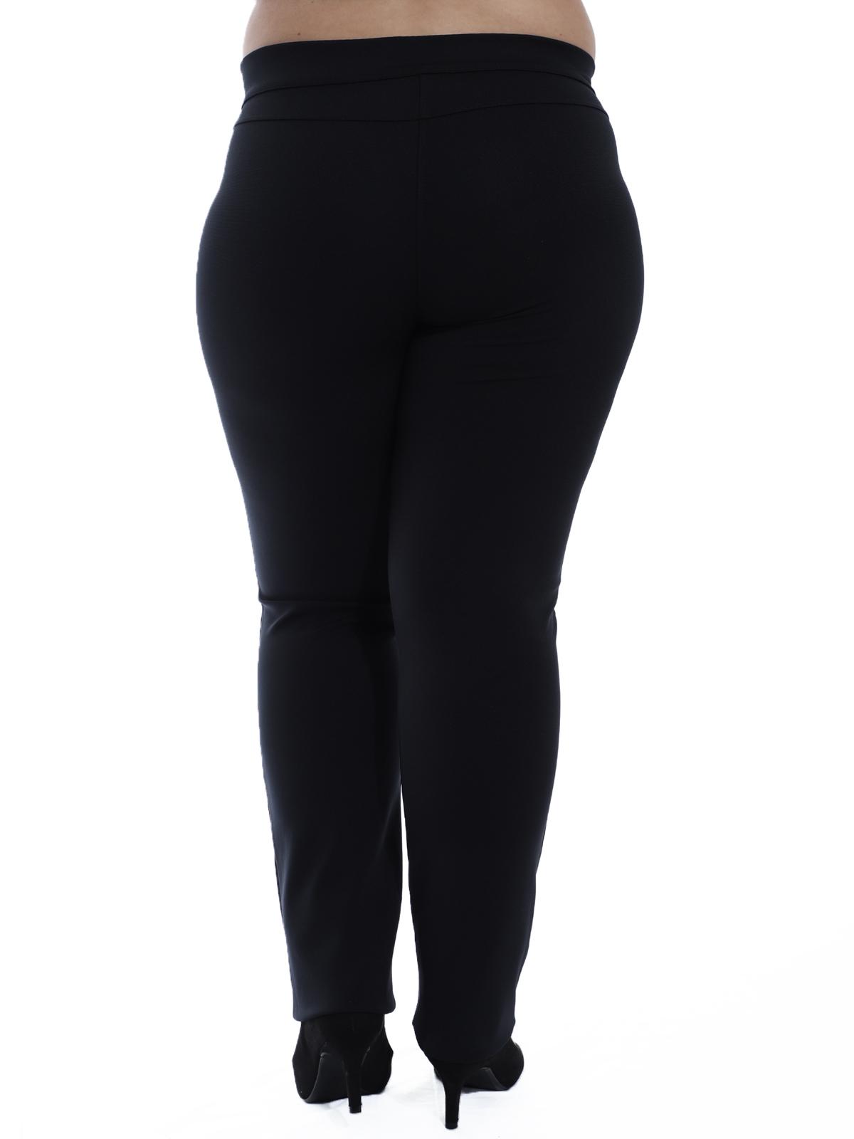 Calça Plus Size Feminina Body Fit Detalhe Lateral Preta