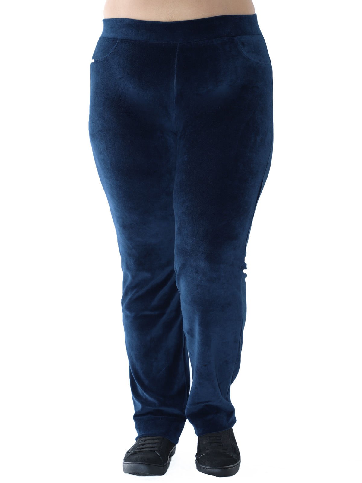 Calça Plus Size Feminina de Plush Azul Marinho