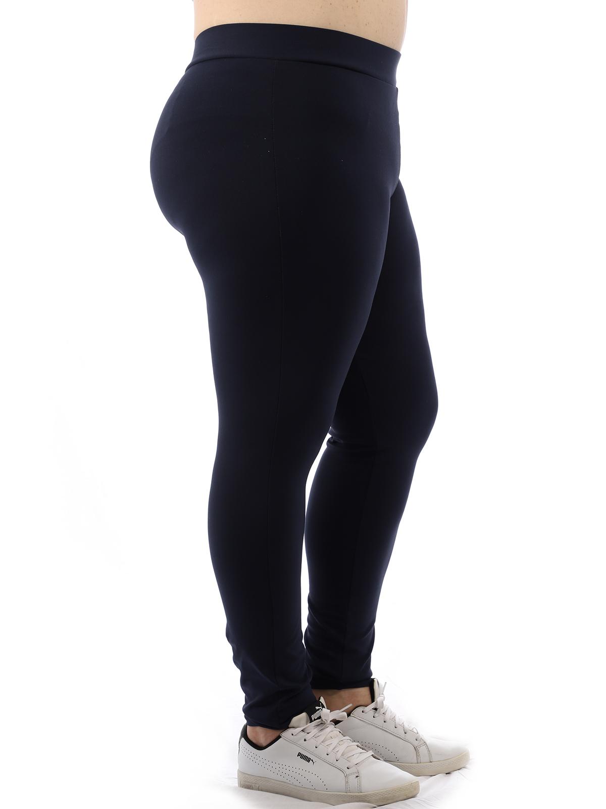 Calça Plus Size Feminina Legging Fitness Grossa Azul Marinho