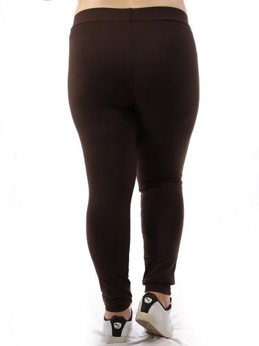 Calça Plus Size Feminina Legging Fitness Grossa Marrom