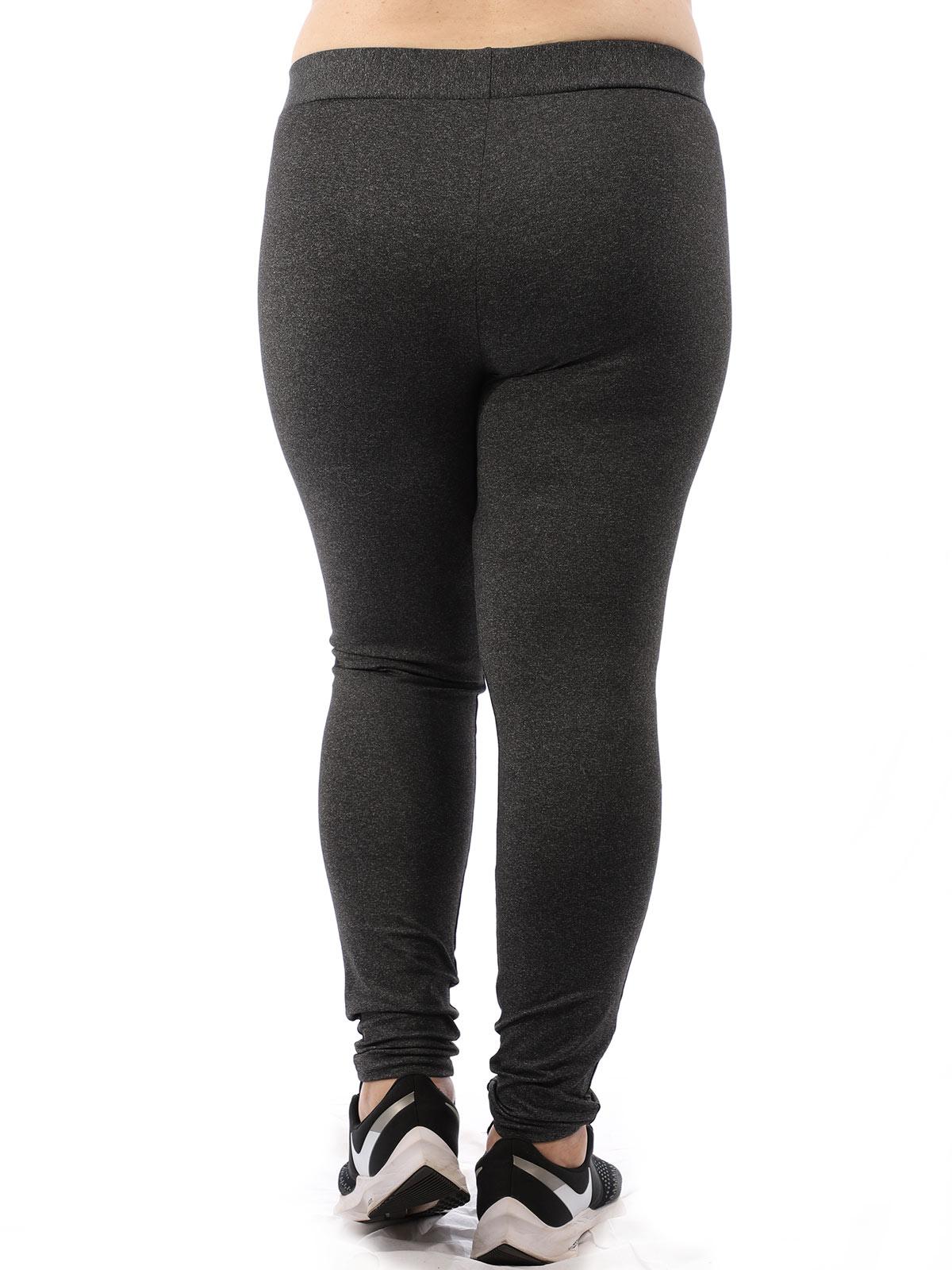 Calça Plus Size Feminina Legging Fitness Grossa Mescla Preto