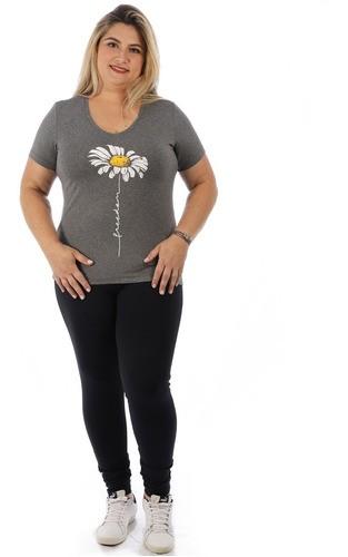 Calça Plus Size Feminina Legging Fitness Grossa Preto