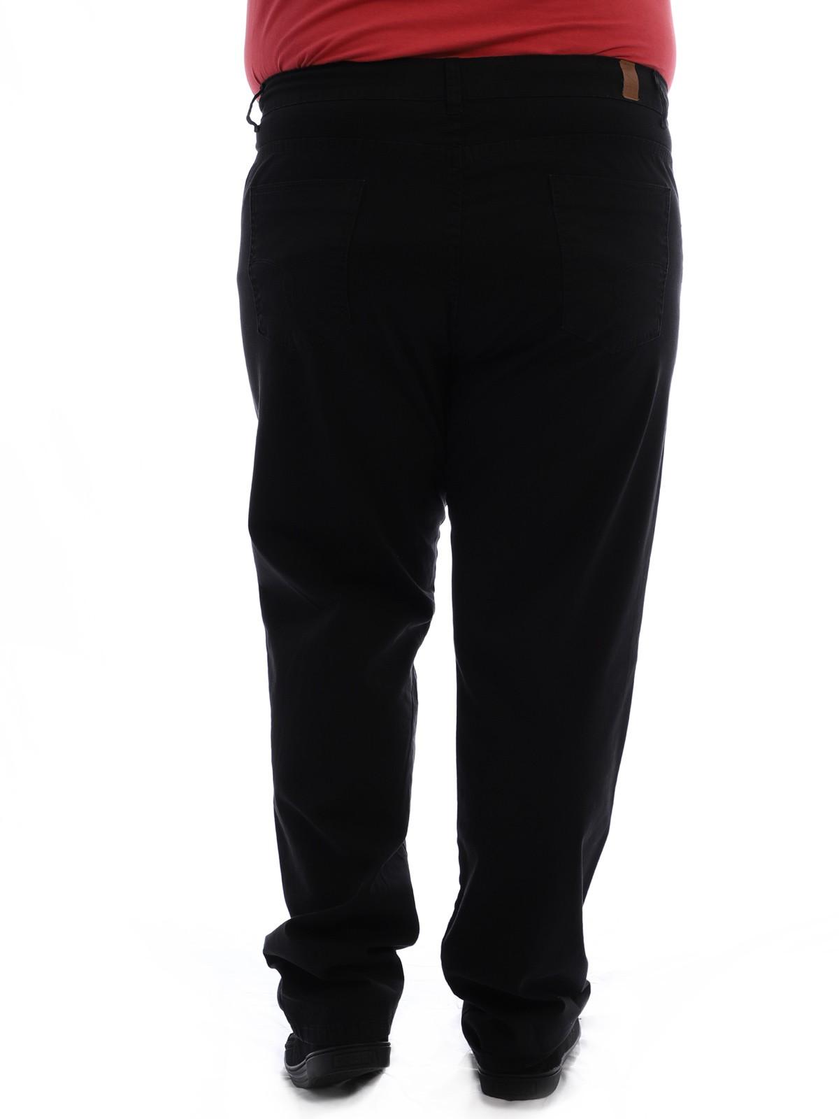Calça Plus Size Masculina Sarja Tinturada Com Strech Preta