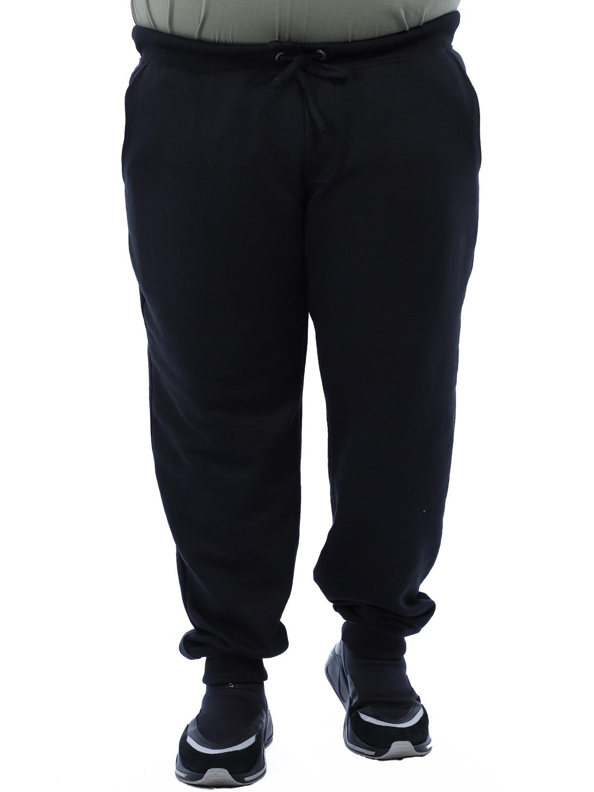 Calça Plus Size Masculino de Moletom Sem Felpa Anistia Preto
