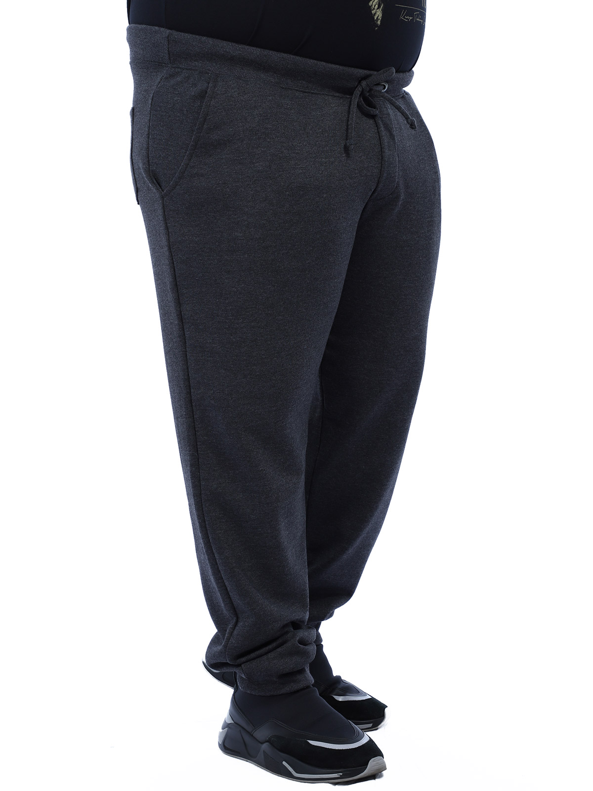 Calça Plus Size Masculino De Moletom Sem Felpa Confort Mescla