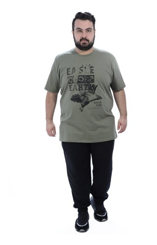 Calça Plus Size Masculino De Moletom Sem Felpa Confort Preto