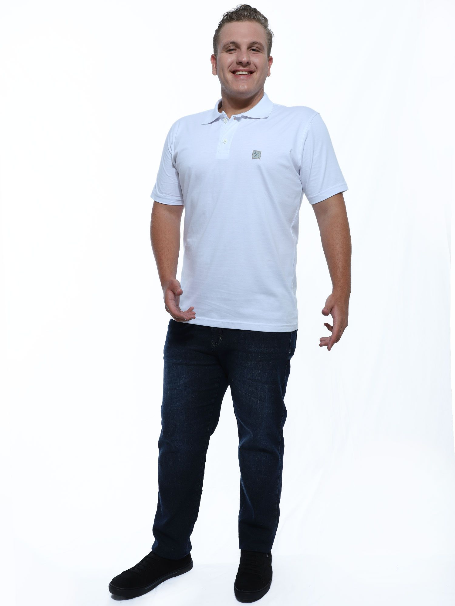 Camisa Polo Anistia Bordado Lateral Branco
