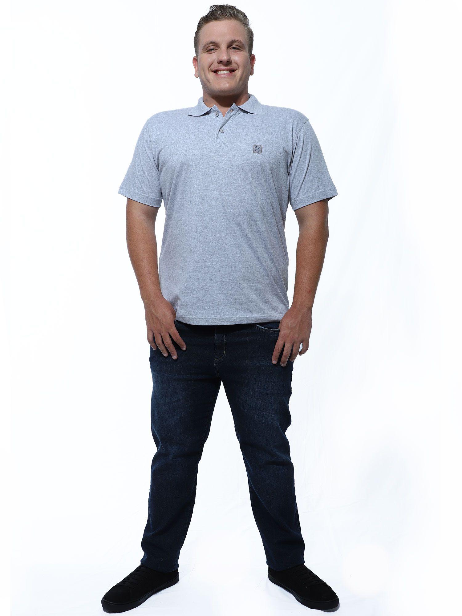 Camisa Polo Anistia Bordado Lateral Mescla