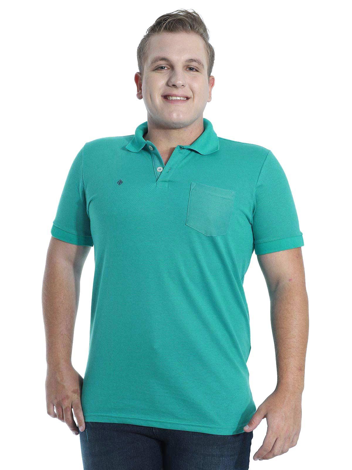 Camisa Polo Anistia Jacquard com Bolso Verde