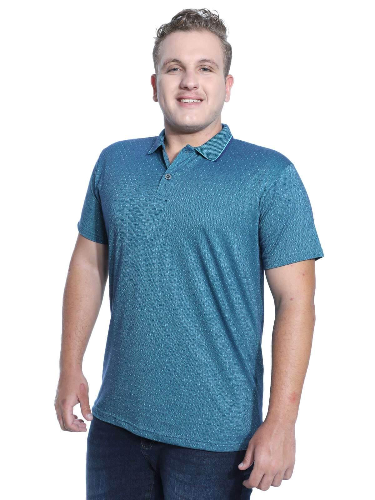 Camisa Polo Masculina Jacquard Regent Anistia Jeans