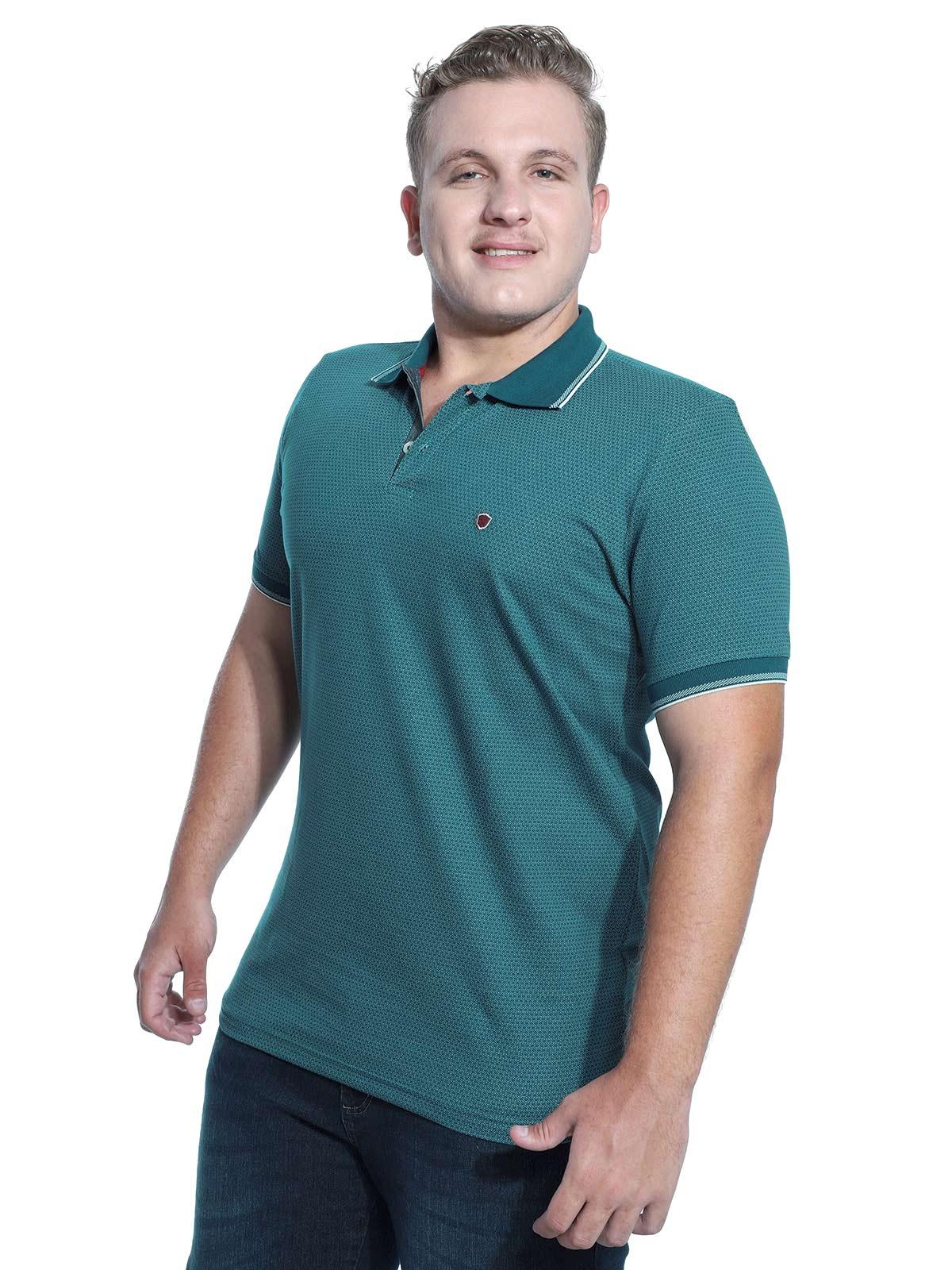 Camisa Polo Anistia Jacquard Spear Verde